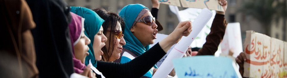 Demonstrations of Women in Egypt